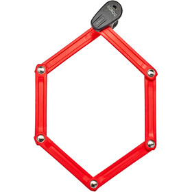 ABUS Bordo Combo Lite 6150/85 Folding Lock red